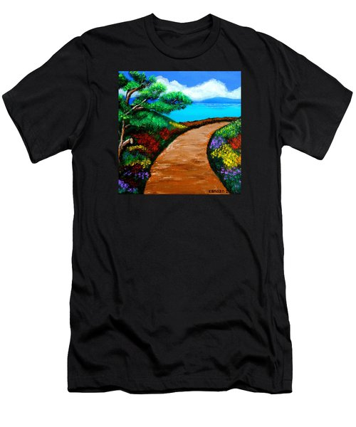 Way To The Sea Men's T-Shirt (Slim Fit) by Cyril Maza