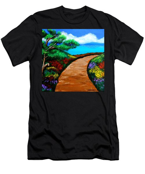 Way To The Sea Men's T-Shirt (Athletic Fit)