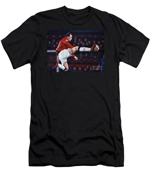 Wayne Rooney Men's T-Shirt (Slim Fit) by Paul Meijering