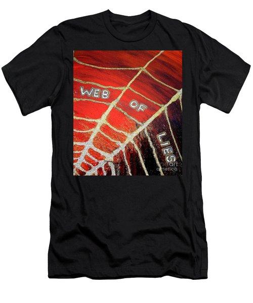Web Of Lies Men's T-Shirt (Athletic Fit)