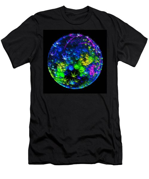 Weed Planet Full Of Cannabis Plants Men's T-Shirt (Athletic Fit)