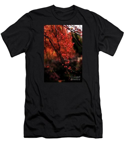 Men's T-Shirt (Slim Fit) featuring the photograph Weeping by Linda Shafer