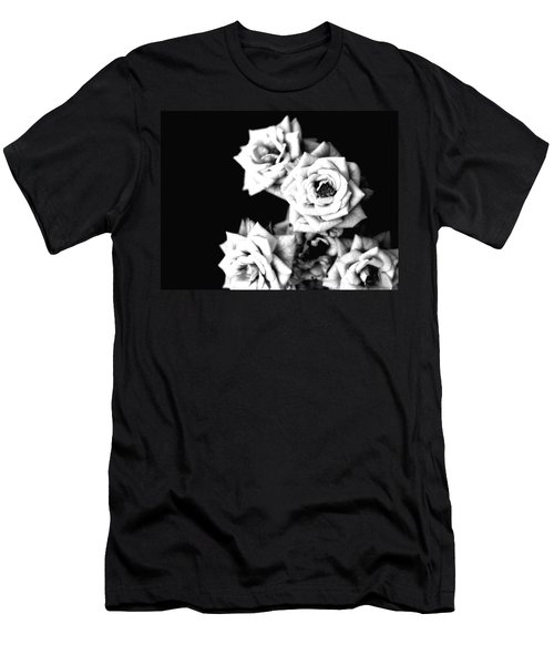 Men's T-Shirt (Slim Fit) featuring the photograph Weeping Roses by Rachel Mirror
