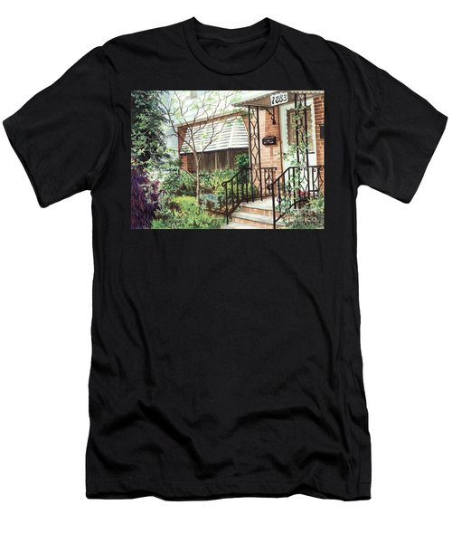 Men's T-Shirt (Slim Fit) featuring the painting Welcome Home by Barbara Jewell