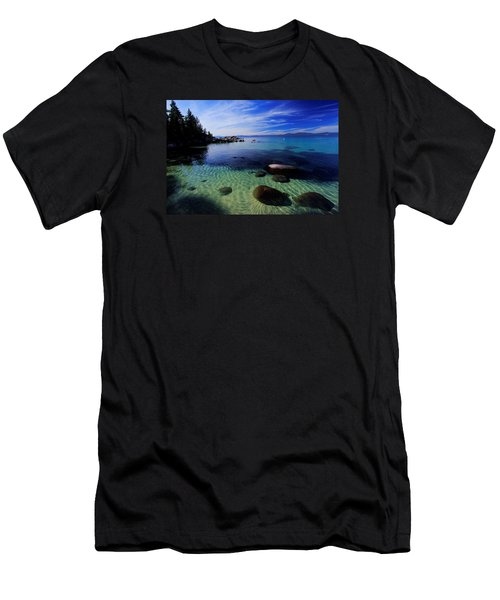 Men's T-Shirt (Slim Fit) featuring the photograph Welcome To Bliss Beach by Sean Sarsfield