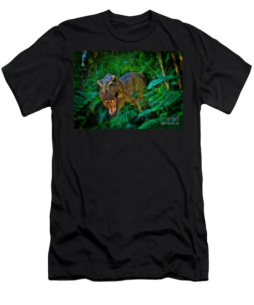 Welcome To My Park Tyrannosaurus Rex Men's T-Shirt (Slim Fit) by Olga Hamilton