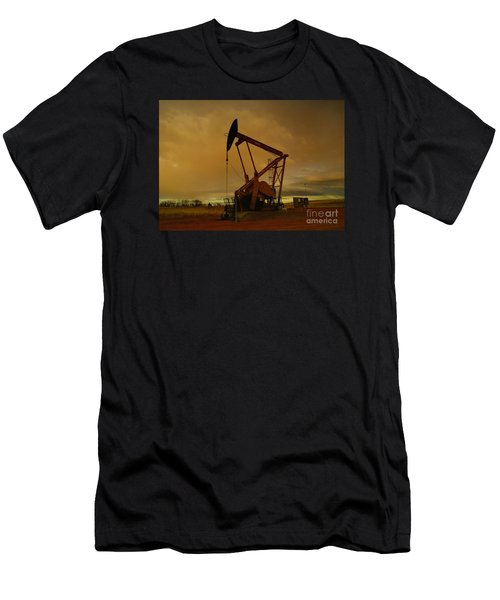Wellhead At Dusk Men's T-Shirt (Athletic Fit)