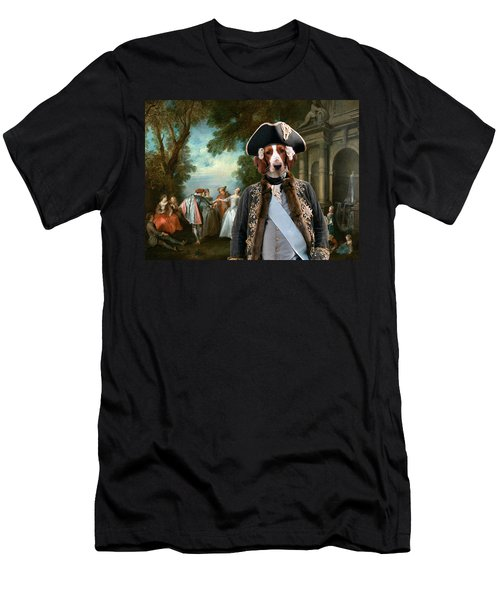 Welsh Springer Spaniel Art Canvas Print Men's T-Shirt (Athletic Fit)