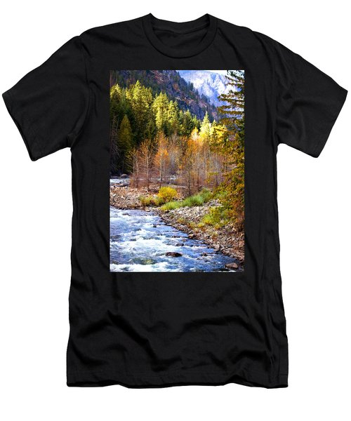 Wenatchee River - Leavenworth - Washington Men's T-Shirt (Athletic Fit)