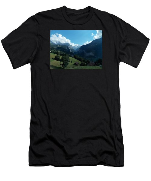 Wengen View Of The Alps Men's T-Shirt (Athletic Fit)