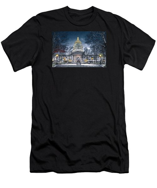 West Virginia State Capitol Men's T-Shirt (Slim Fit) by Mary Almond