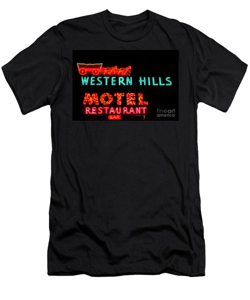 Western Hills Motel Sign Men's T-Shirt (Athletic Fit)