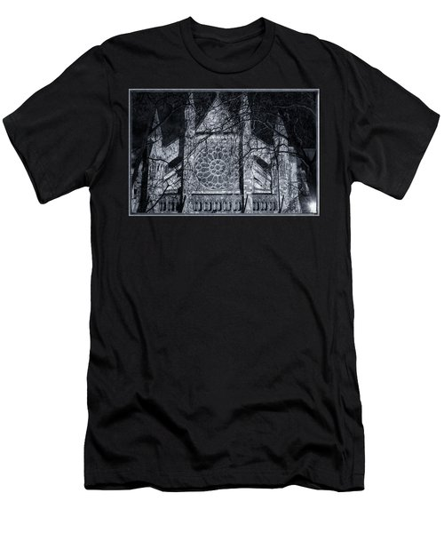 Westminster Abbey North Transept Men's T-Shirt (Slim Fit) by Joan Carroll