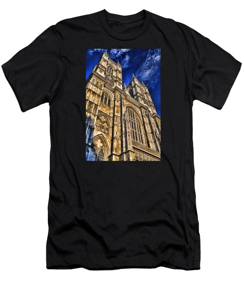 Westminster Abbey West Front Men's T-Shirt (Slim Fit) by Stephen Stookey