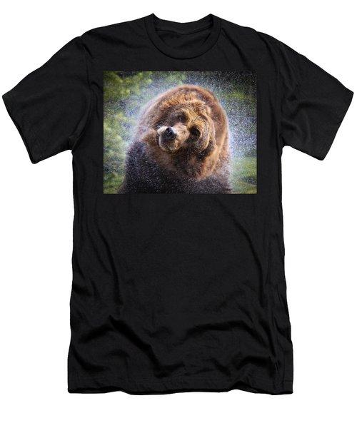 Men's T-Shirt (Slim Fit) featuring the photograph Wet Griz by Steve McKinzie