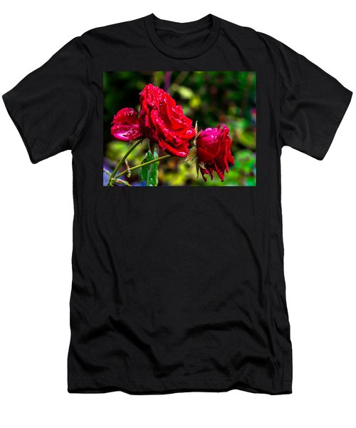 Wet Rose Men's T-Shirt (Athletic Fit)