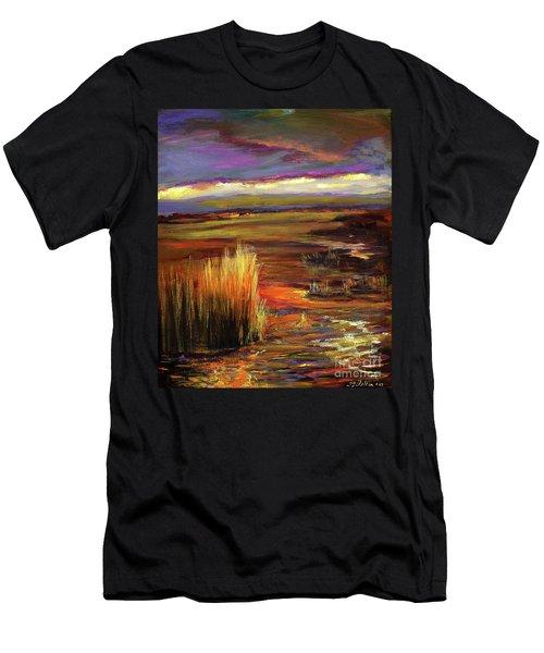 Wetlands Sunset Iv Men's T-Shirt (Athletic Fit)