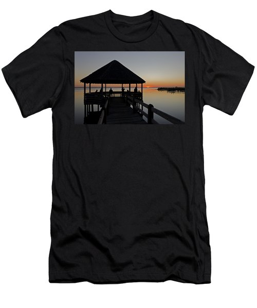 Men's T-Shirt (Slim Fit) featuring the photograph Whalehead Sunset Obx by Greg Reed