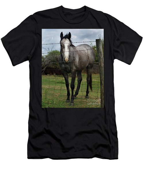 Men's T-Shirt (Slim Fit) featuring the photograph What Are You Afraid Of by Peter Piatt