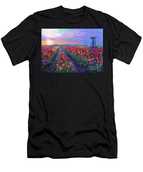 Tulip Fields, What Dreams May Come Men's T-Shirt (Athletic Fit)