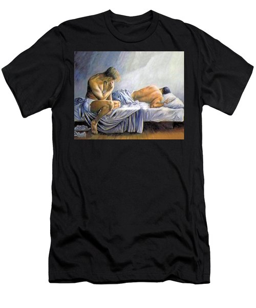 What Is He Dreaming Men's T-Shirt (Athletic Fit)