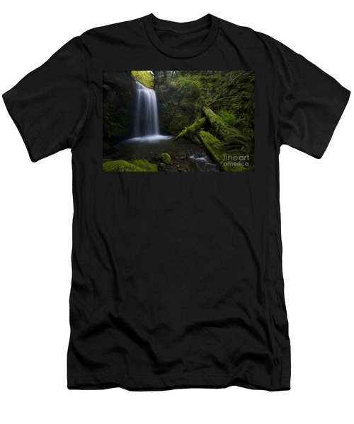 Whatcom Falls Serenity Men's T-Shirt (Slim Fit) by Mike Reid