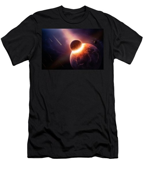 When Planets Collide Men's T-Shirt (Athletic Fit)