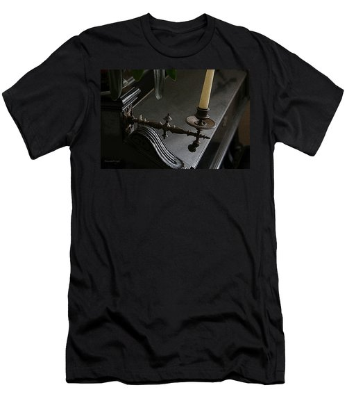 Where Music Once Played Men's T-Shirt (Slim Fit) by Yvonne Wright