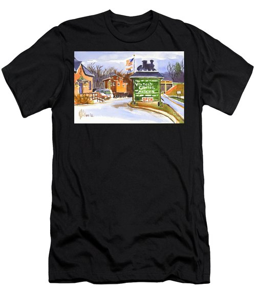 Whistle Junction In Ironton Missouri Men's T-Shirt (Athletic Fit)