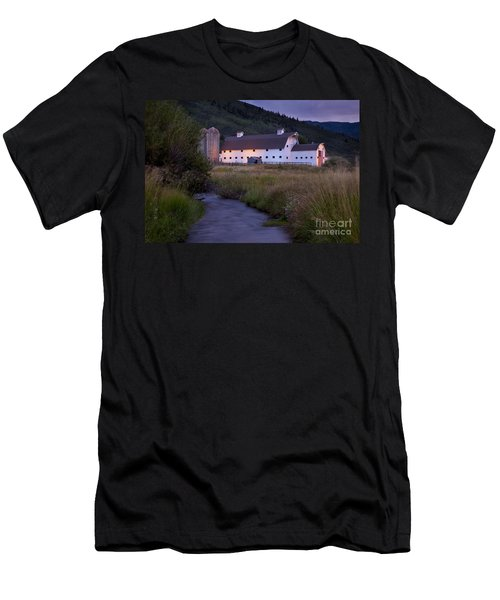 Men's T-Shirt (Athletic Fit) featuring the photograph White Barn by Brian Jannsen
