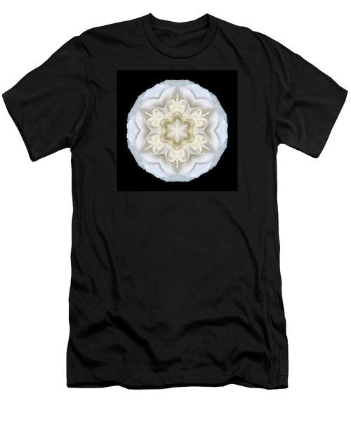 White Begonia II Flower Mandala Men's T-Shirt (Athletic Fit)