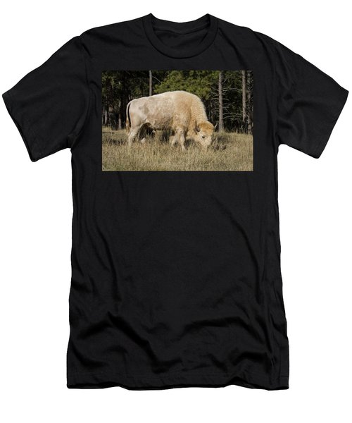 White Bison Symbol Of Hope And Renewal Men's T-Shirt (Athletic Fit)