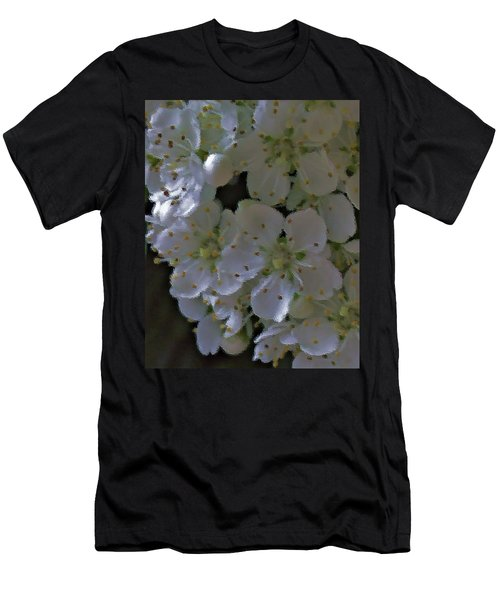White Blooms Men's T-Shirt (Athletic Fit)