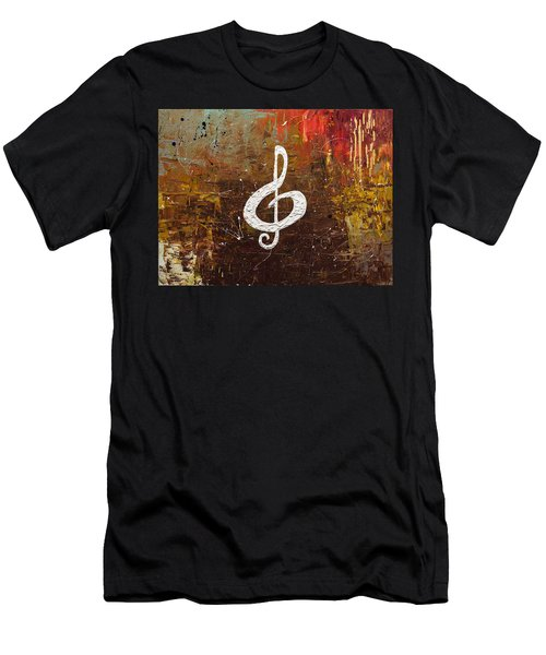 White Clef Men's T-Shirt (Athletic Fit)