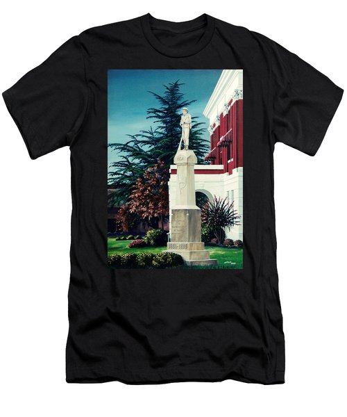 White County Courthouse - Civil War Memorial Men's T-Shirt (Athletic Fit)