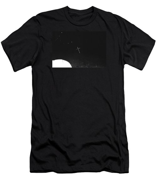 Men's T-Shirt (Slim Fit) featuring the photograph White Cross by Steven Macanka