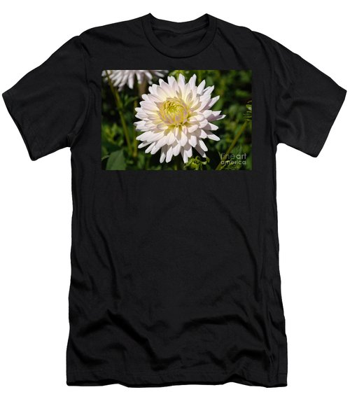White Dahlia Flower Men's T-Shirt (Athletic Fit)