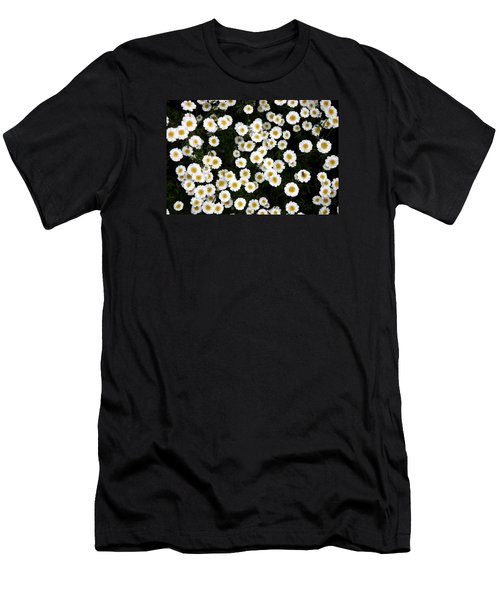 Men's T-Shirt (Slim Fit) featuring the photograph White Daisys by Jean Walker