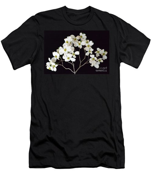 Men's T-Shirt (Slim Fit) featuring the photograph White Dogwood Branch by Jeannie Rhode