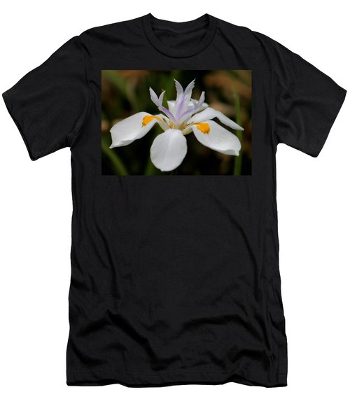 White Flower Men's T-Shirt (Slim Fit) by Pamela Walton