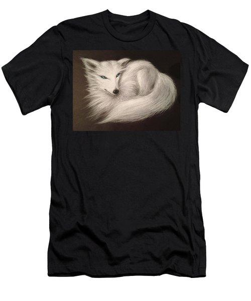 White Fox Men's T-Shirt (Slim Fit) by Patricia Lintner