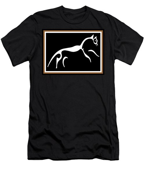 Men's T-Shirt (Slim Fit) featuring the digital art White Horse Of Uffington by Vagabond Folk Art - Virginia Vivier