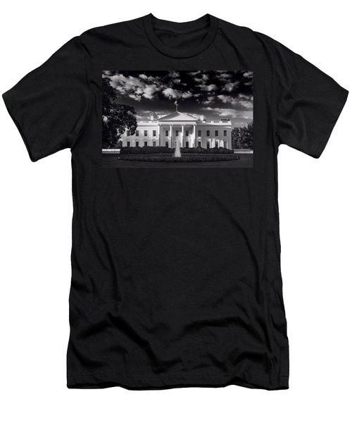 White House Sunrise B W Men's T-Shirt (Slim Fit) by Steve Gadomski