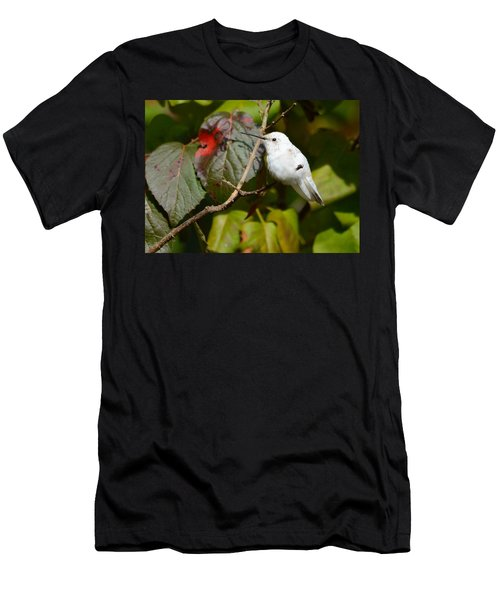 White Hummingbird Men's T-Shirt (Athletic Fit)