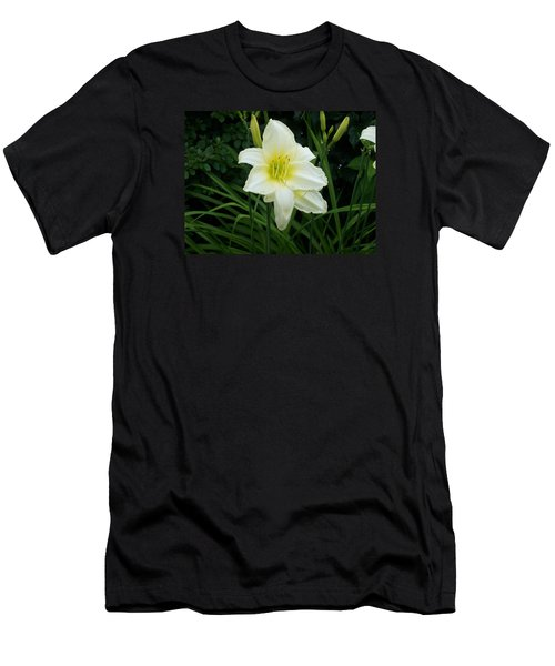 White Lily Men's T-Shirt (Slim Fit) by Catherine Gagne