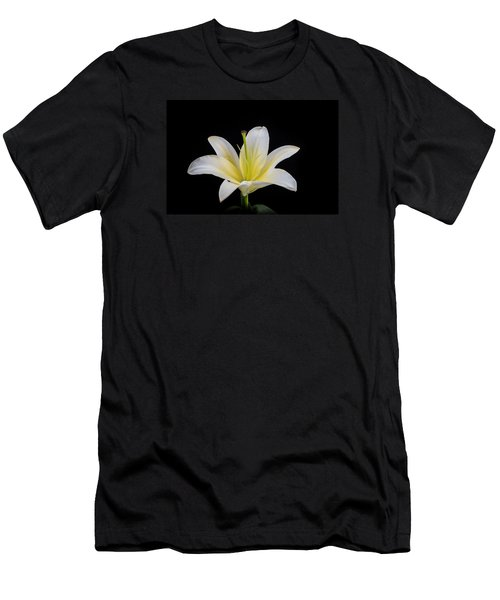 White Lily Men's T-Shirt (Slim Fit) by Doug Long