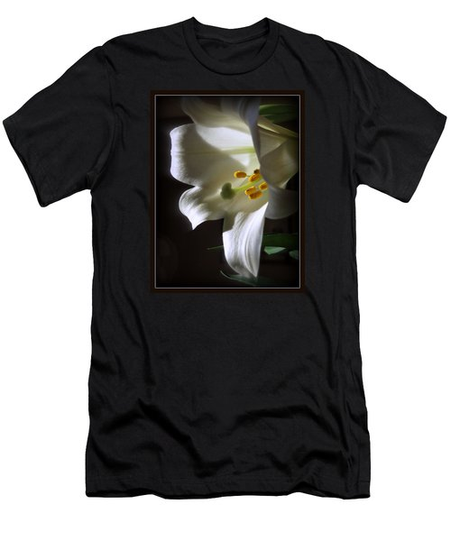 White Lily Men's T-Shirt (Slim Fit) by Kay Novy