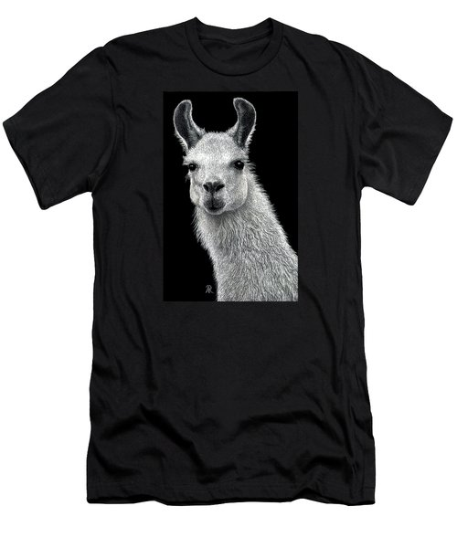 White Llama Men's T-Shirt (Athletic Fit)