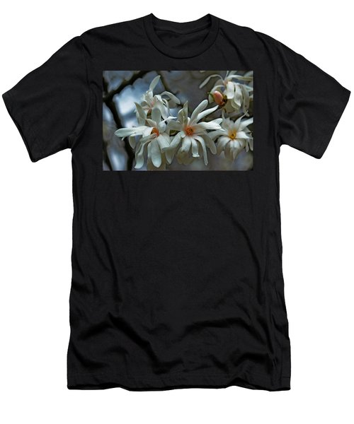 Men's T-Shirt (Slim Fit) featuring the photograph White Magnolia by Rowana Ray