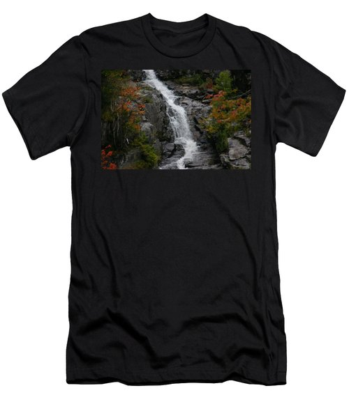 Men's T-Shirt (Slim Fit) featuring the photograph White Mountain Water Fall  by Denyse Duhaime